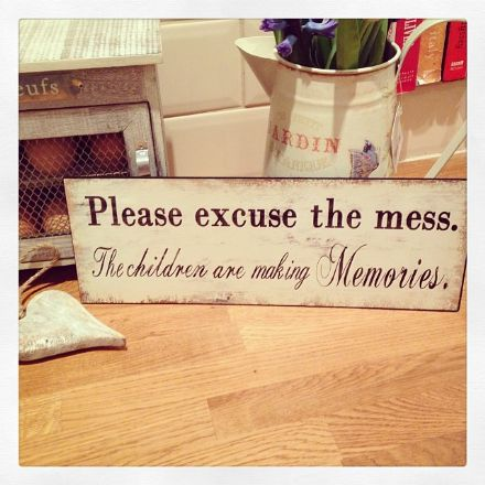 Please Excuse the Mess.... Vintage Iron Sign